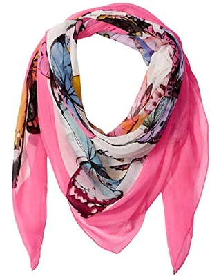 Collection XIIX Women's Butterflies Square Scarf, Pink, One Size