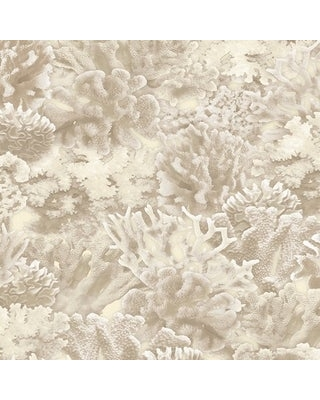 Coral Wallpaper, Novelty in Beige, Antique White, Cottage White