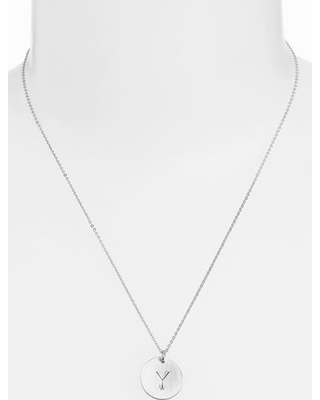 Women's Nashelle Sterling Silver Initial Disc Necklace