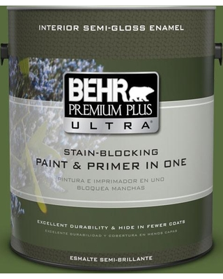 BEHR Premium Plus Ultra 1 gal. #410D-7 Mountain Forest Semi-Gloss Enamel Interior Paint and Primer in One