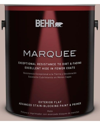 BEHR MARQUEE 1 gal. #PPU17-10 Mauvette Flat Exterior Paint and Primer in One