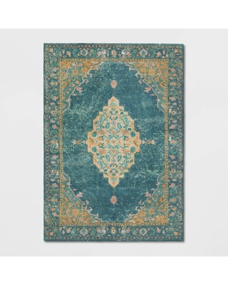 7'X10' Paisley Tufted Area Rug Blue - Threshold , Size: 7'X10'