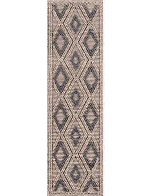 "Momeni Andes Hand Woven Wool and Viscose Beige Runner 2'3"" X 8'"