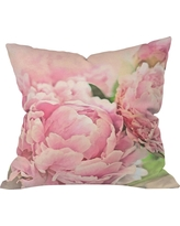 Pink Peonies Throw Pillow - DENY Designs