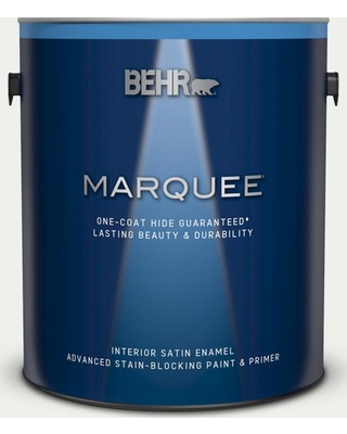BEHR MARQUEE 1 gal. #780E-1 Billowy Down Satin Enamel Interior Paint and Primer in One