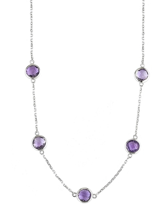 Women's Jane Basch Designs Faceted Station Necklace