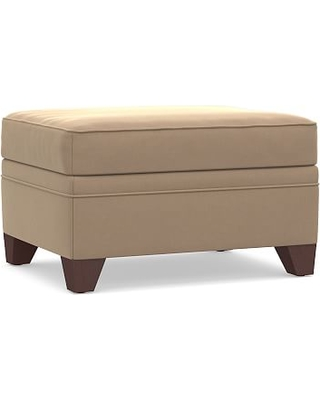 Cameron Roll Arm Upholstered Storage Ottoman, Polyester Wrapped Cushions, Performance Plush Velvet Camel