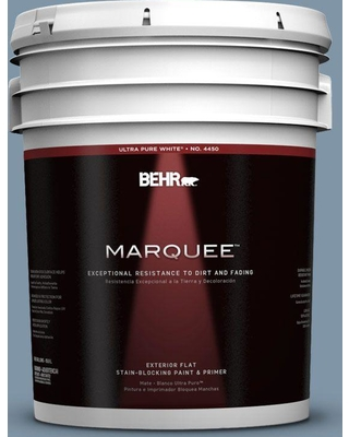 BEHR MARQUEE 5 gal. #560F-5 Bleached Denim Flat Exterior Paint and Primer in One