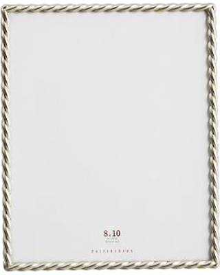 Amazing Deal on Rope Plated Frame, Silver - 8 x 10\