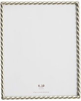 """Rope Plated Frame, Silver - 8 x 10"""""""