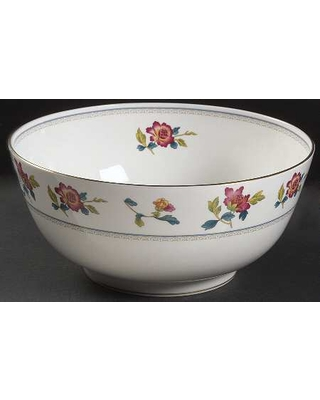 """Wedgwood Chinese Flowers 9"""" Salad Serving Bowl"""