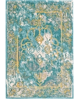 "Lagoon Loomed Area Rug - (5'3""X7'6"") - Room Envy, White"