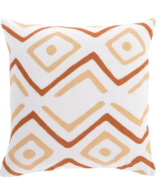 Artistic Weavers Boadicea Burnt Orange Graphic Polyester 18 in. x 18 in. Throw Pillow