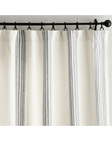 """Riviera Stripe Drape with Blackout Liner, 50 x 84"""", Charcoal"""