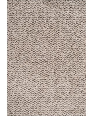 6'X9' Solid Loomed Area Rug Ivory/Gray - Safavieh, White