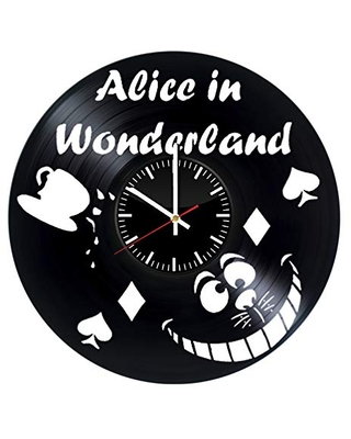 Alice in Wonderland Vinyl Record Wall Clock, Alice in Wonderland Wall Art, Alice in Wonderland Wall Decor, Alice in Wonderland Decoration