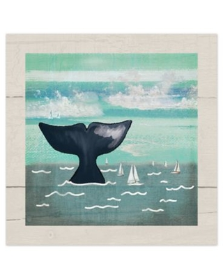 Whale Tail 16-Inch x 16-Inch Canvas Wall Art