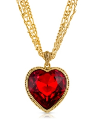 2028 Crystal Heart Multi Chain Necklace