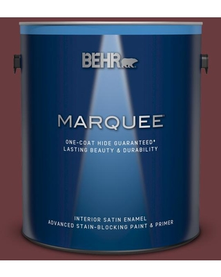 BEHR MARQUEE 1 gal. #QE-08 Oxford Satin Enamel Interior Paint and Primer in One