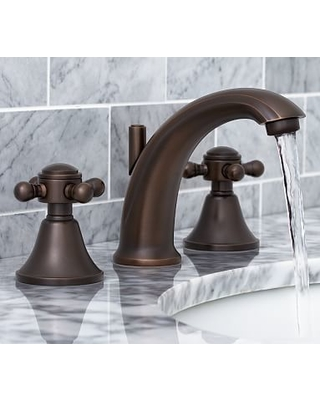 Warby Cross Handle Widespread Bathroom Faucet Antique Bronze Finish