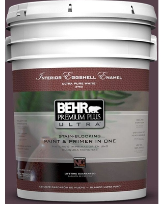 BEHR Premium Plus Ultra 5 gal. #T15-4 Your Majesty Eggshell Enamel Interior Paint and Primer in One