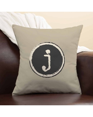Personalized Trendy Initial Throw Pillow, Lower Case