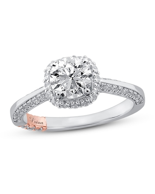 Jared The Galleria Of Jewelry Pnina Tornai Dream of Love Diamond Engagement Ring 1-3/8 ct tw Round 14K Two-Tone Gold