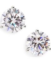 Women's Nordstrom Precious Metal Plated 6Ct Tw Cubic Zirconia Earrings