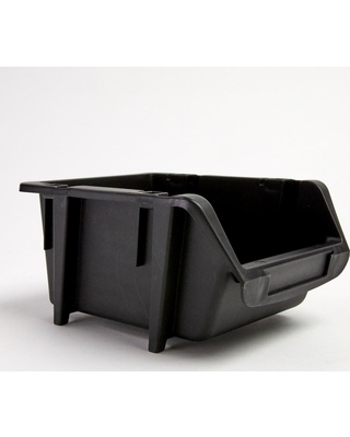 TAFCO Product 4-7/8 in. Stacking and Nesting Storage Bin, Black (4-Pack)