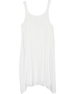 Elan Crochet Inset Cover-Up Dress, Size X-Large in White at Nordstrom