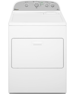 Whirlpool 7.0 cu. ft. 240-Volt White Electric Vented Dryer with Wrinkle Shield Plus