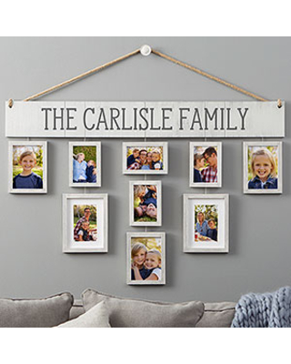 Personalized Hanging Picture Frames Set - Our Family