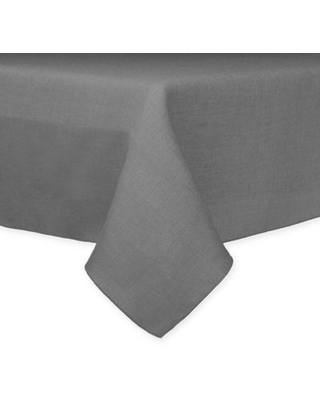Ultimate Textile 60-Inch x 108-Inch Oblong Havana Faux Burlap Tablecloth in Grey