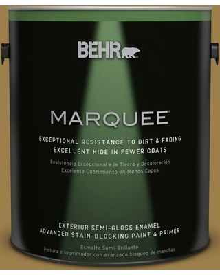 BEHR MARQUEE 1 gal. #S310-6 Gold Ink Semi-Gloss Enamel Exterior Paint and Primer in One