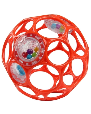 Bright Starts Oball Rattle Easy-Grasp Toy In Red