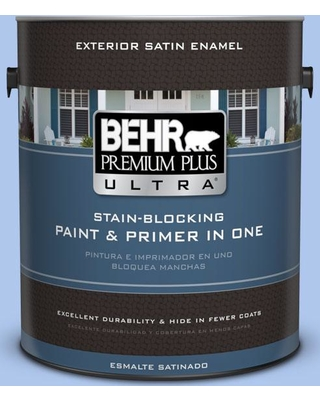 BEHR ULTRA 1 gal. #P530-2 Promise Keeping Satin Enamel Exterior Paint and Primer in One