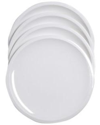Craft Kitchen White Salad Plates- Set of 4