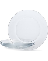 "Duralex 3006AF06/4 9.25"" (Set of 4) LYS Tempered Glass Dinner Plate, Clear"