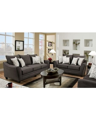 Attirant 1838534040SL Cupertino Sofa + Loveseat With 4 Cosmopolitan Birch Toss  Pillows 16 Gauge Wire Sinuous Springs