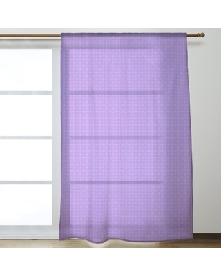 Two Color Doily Pattern Sheer Curtains - 53 x 84 (Purple & Pink)