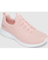 Women's S Sport BY Skechers Charlize Athletic Shoes Knit Sparkle Pull-on - Pink 6, Pink White