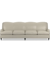 "Bedford 108"" Sofa, Down Cushion, Italian Distressed Leather, Ivory"