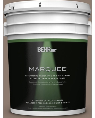BEHR MARQUEE 5 gal. #N180-5 Bridle Leather Semi-Gloss Enamel Exterior Paint and Primer in One