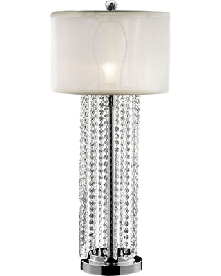Ore International Table Lamp Only Silver