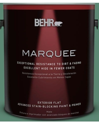BEHR MARQUEE 1 gal. #MQ6-43 Dark Jade Flat Exterior Paint and Primer in One