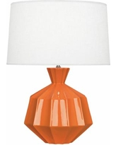 Robert Abbey Orion Pumpkin Ceramic Table Lamp
