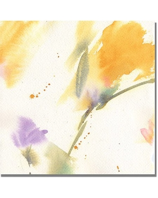 "Trademark Art ""Flowers Abstract"" Canvas Wall Art by Philippe Shelia Golden"