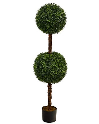 4.5ft. Boxwood Double Ball Topiary Artificial Tree (Indoor/Outdoor)