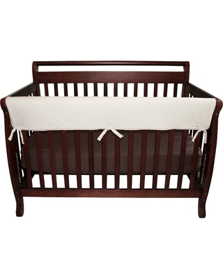 Trend Lab 51 Fleece Front Rail Cover for Convertible Cribs - Natural