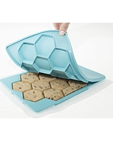 Shape+Store Smart Cookie Innovative Cookie Cutter and Freezer Container (Pack of 2), Baker's Dozen X2, Blue